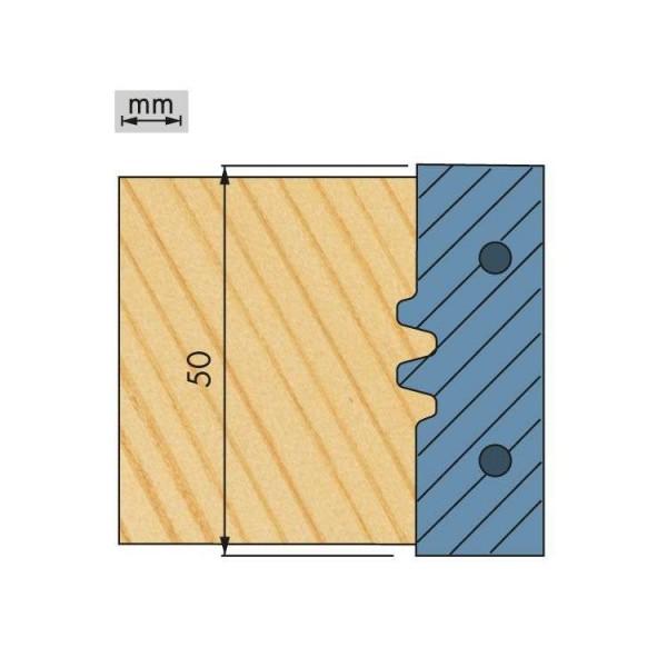 WP-HW Wechselplatten (2 Stück) für Softlineverleimfräser