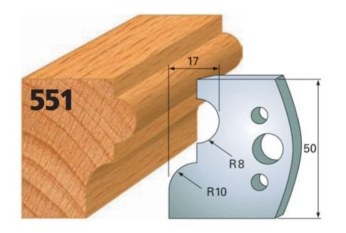 Profilmesser bzw. Abweiser Nr. 551 | 50 mm