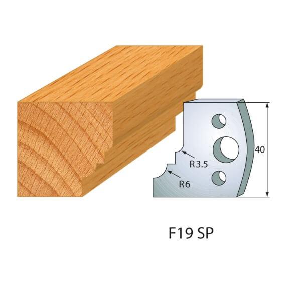 Profilmesser bzw. Abweiser Nr.19 | BG-konform - 40mm