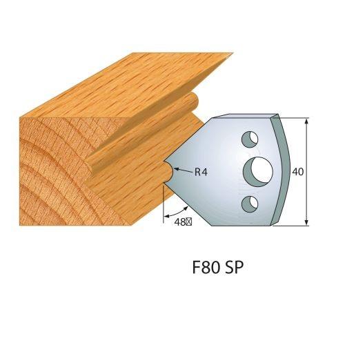 Profilmesser bzw. Abweiser Nr.80   BG-konform - 40 mm