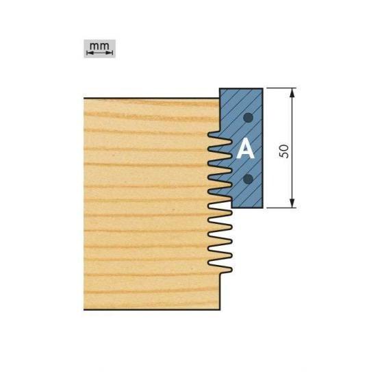 Wechselplatte für Oberteile (2 Stück) für Minizinkenfräser
