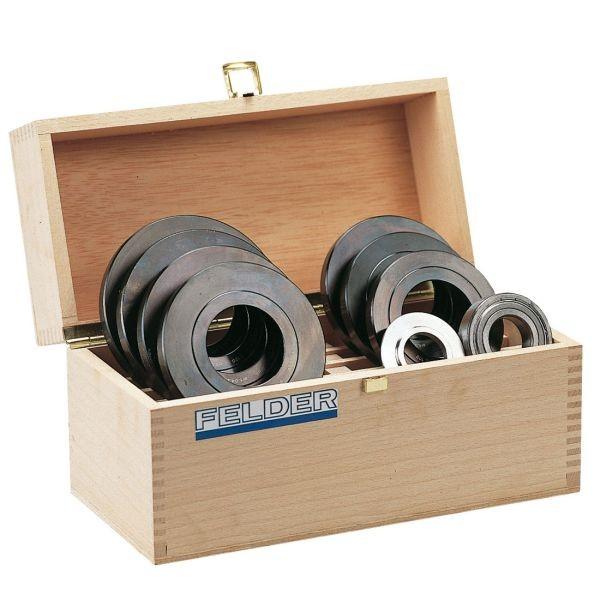 SET-Angebot! Anlaufringset in Holzkassette (⌀70 -110 mm)