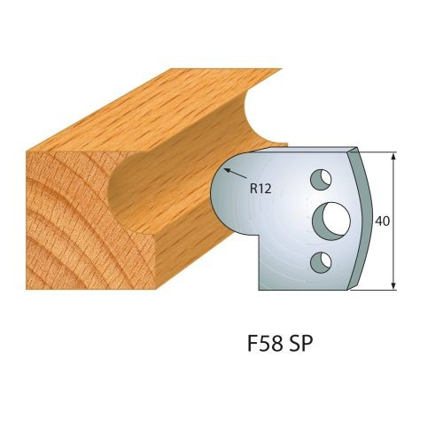 Profilmesser bzw. Abweiser Nr.58 | BG-konform - 40 mm
