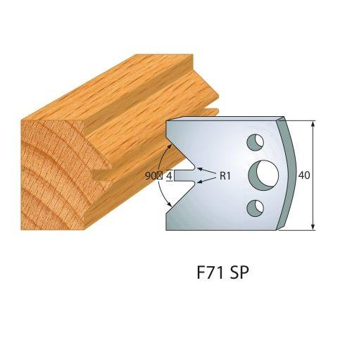 Profilmesser bzw. Abweiser Nr.71 | BG-konform - 40 mm