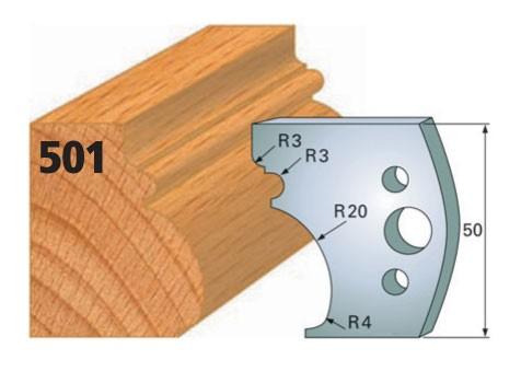 Profilmesser bzw. Abweiser Nr. 501 | 50 mm