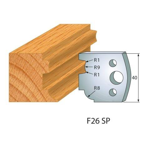 Profilmesser bzw. Abweiser Nr.26 | BG-konform - 40 mm
