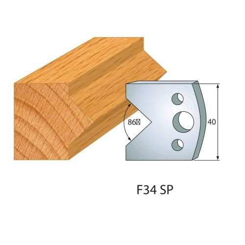 Profilmesser bzw. Abweiser Nr.34   BG-konform - 40 mm