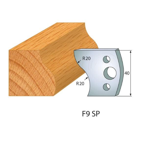 Profilmesser bzw. Abweiser Nr.9 | BG-konform - 40mm