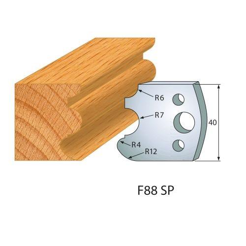 Profilmesser bzw. Abweiser Nr.88 | BG-konform - 40 mm