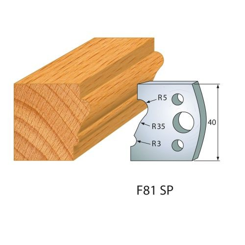 Profilmesser bzw. Abweiser Nr.81   BG-konform - 40 mm