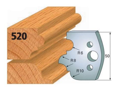 Profilmesser bzw. Abweiser Nr. 520   50 mm