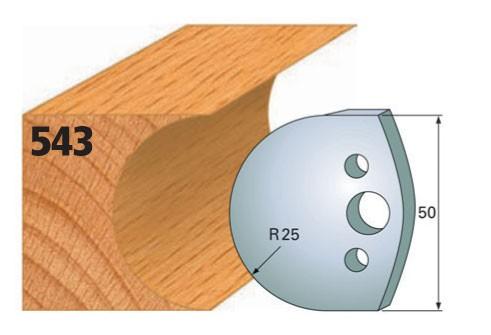 Profilmesser bzw. Abweiser Nr. 543 | 50 mm
