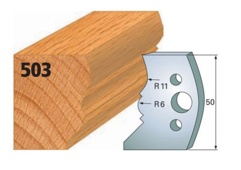 Profilmesser bzw. Abweiser Nr. 503   50 mm