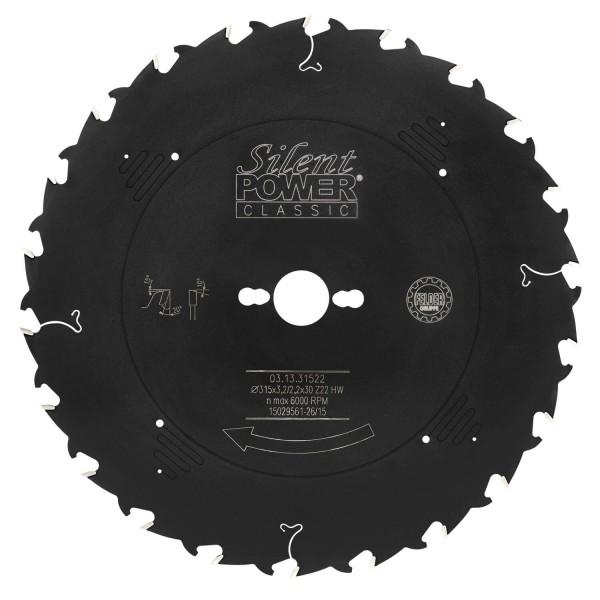 Kombizuschnitt-Sägeblatt, Wechselzahn Ø 315 mm, Z 22