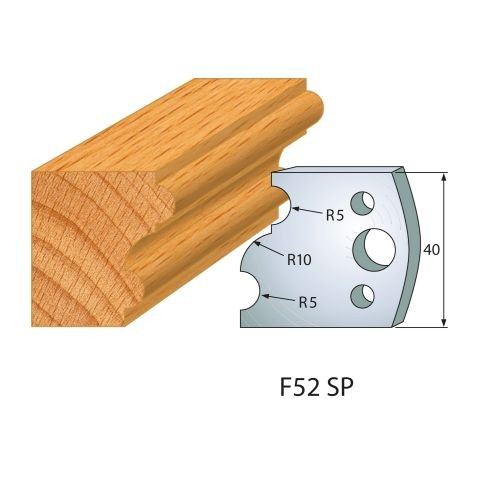 Profilmesser bzw. Abweiser Nr.52 | BG-konform - 40 mm