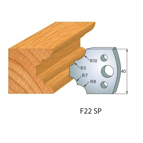 Profilmesser bzw. Abweiser Nr.22 | BG-konform- 40mm