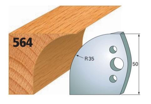 Profilmesser bzw. Abweiser Nr. 564 | 50 mm