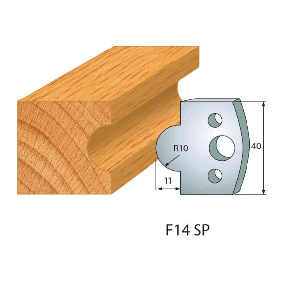 Profilmesser bzw. Abweiser Nr.14 | BG-konform - 40mm