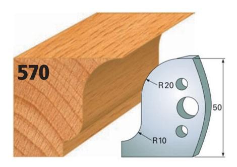 Profilmesser bzw. Abweiser Nr. 570 | 50 mm