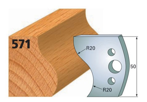 Profilmesser bzw. Abweiser Nr. 571 | 50 mm