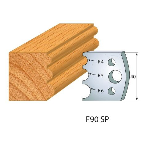 Profilmesser bzw. Abweiser Nr.90 | BG-konform - 40 mm