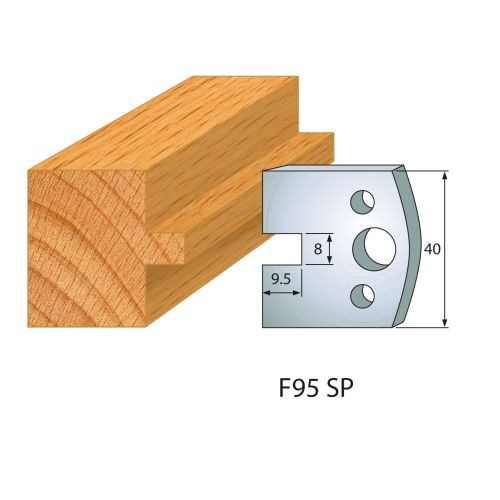 Profilmesser bzw. Abweiser Nr.95   BG-konform - 40 mm