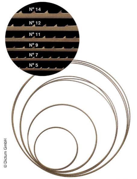 Bandsägeblätter für Pégas Feinschnitt-Bandsäge
