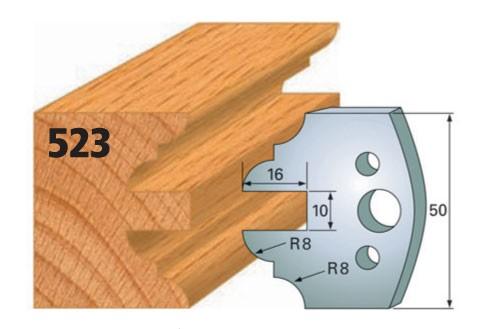 Profilmesser bzw. Abweiser Nr. 523   50 mm