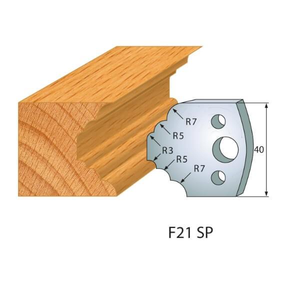 Profilmesser bzw. Abweiser Nr.21 | BG-konform - 40mm
