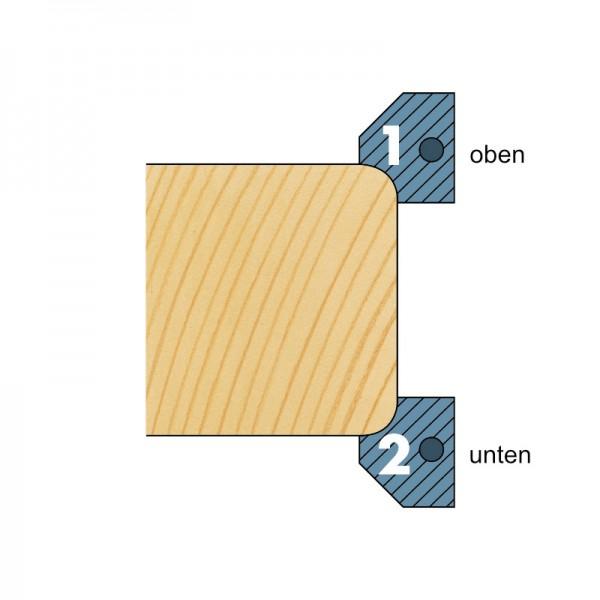 Ersatzmesser für WP-HW-Abrund-, Füge- und Fasemesserkopf