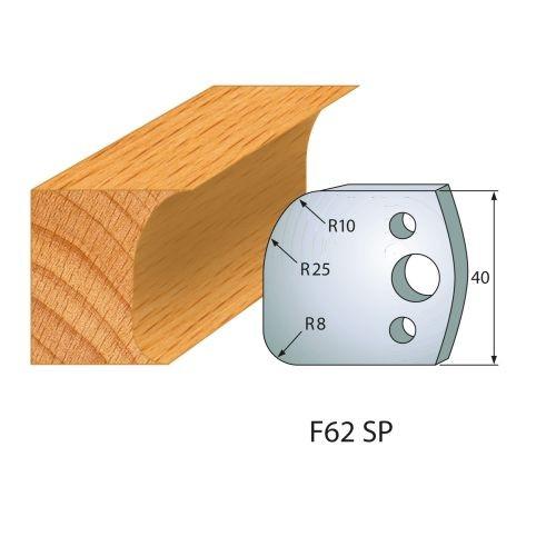 Profilmesser bzw. Abweiser Nr.62   BG-konform - 40 mm