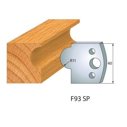 Profilmesser bzw. Abweiser Nr.93 | BG-konform - 40 mm