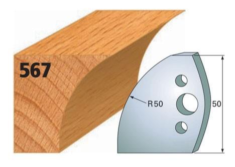 Profilmesser bzw. Abweiser Nr. 567 | 50 mm