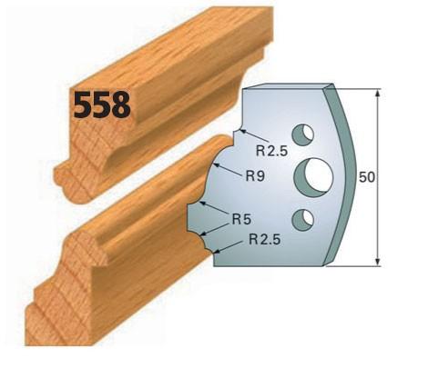 Profilmesser bzw. Abweiser Nr. 558 | 50 mm