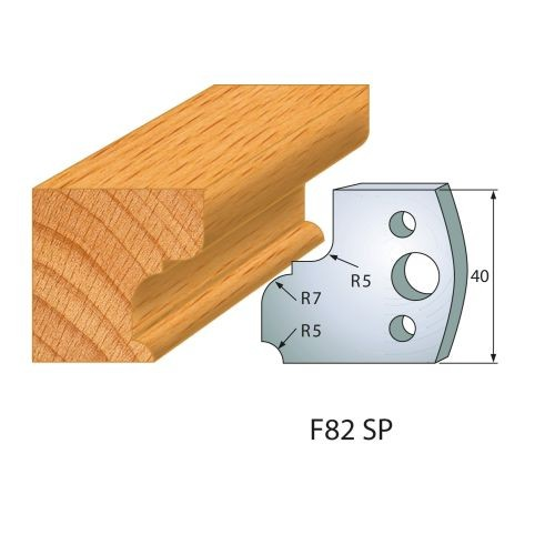 Profilmesser bzw. Abweiser Nr.82 | BG-konform - 40 mm