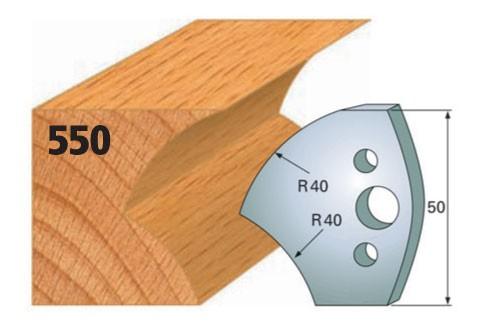 Profilmesser bzw. Abweiser Nr. 550 | 50 mm
