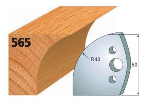 Profilmesser bzw. Abweiser Nr. 565 | 50 mm