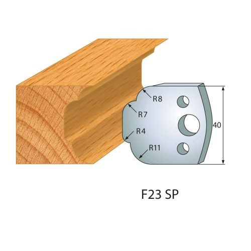 Profilmesser bzw. Abweiser Nr.23   BG-konform- 40mm