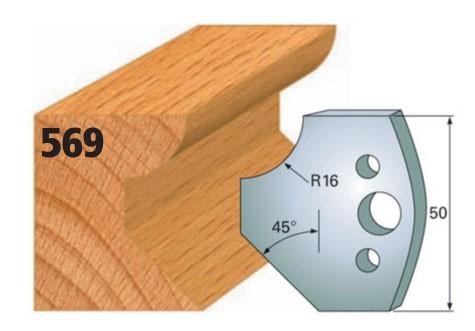 Profilmesser bzw. Abweiser Nr. 569 | 50 mm