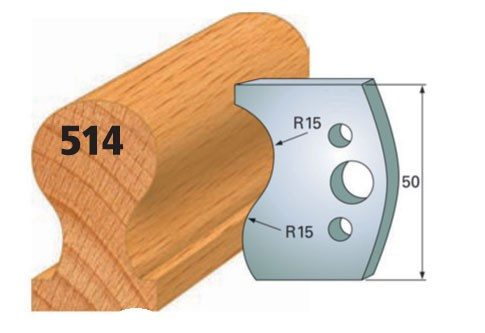 Profilmesser bzw. Abweiser Nr. 514 | 50 mm