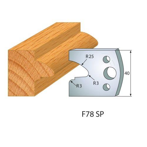 Profilmesser bzw. Abweiser Nr.78 | BG-konform - 40 mm
