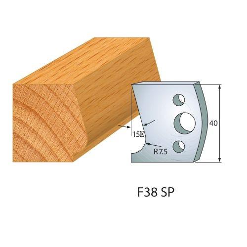 Profilmesser bzw. Abweiser Nr.38 | BG-konform - 40 mm