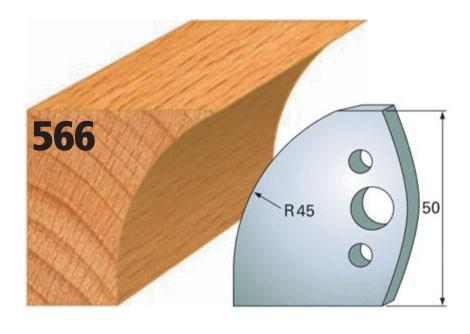 Profilmesser bzw. Abweiser Nr. 566 | 50 mm