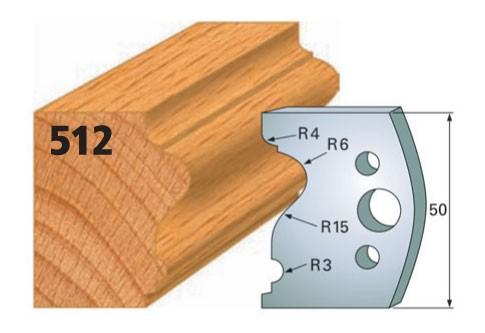 Profilmesser bzw. Abweiser Nr. 512 | 50 mm