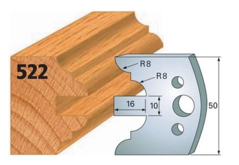 Profilmesser bzw. Abweiser Nr. 522 | 50 mm