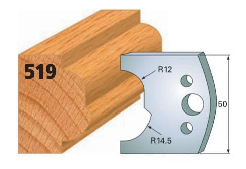 Profilmesser bzw. Abweiser Nr. 519 | 50 mm