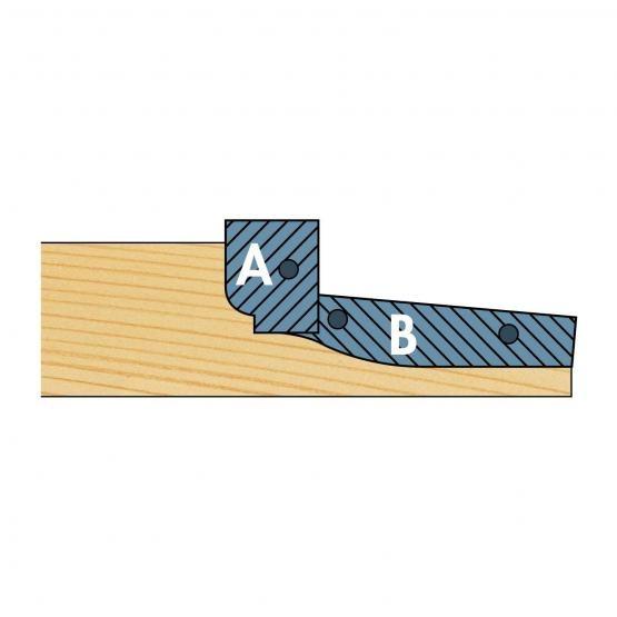 Umfangschneiden r: 21/40mm für Abplattfräser WP-HW,(2 Stück)