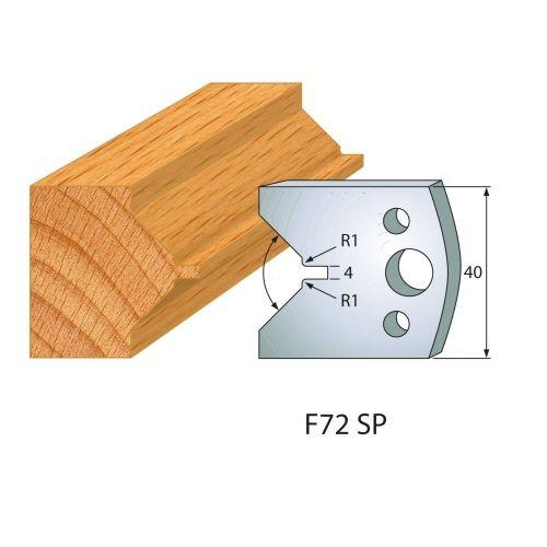 Profilmesser bzw. Abweiser Nr.72 | BG-konform - 40 mm